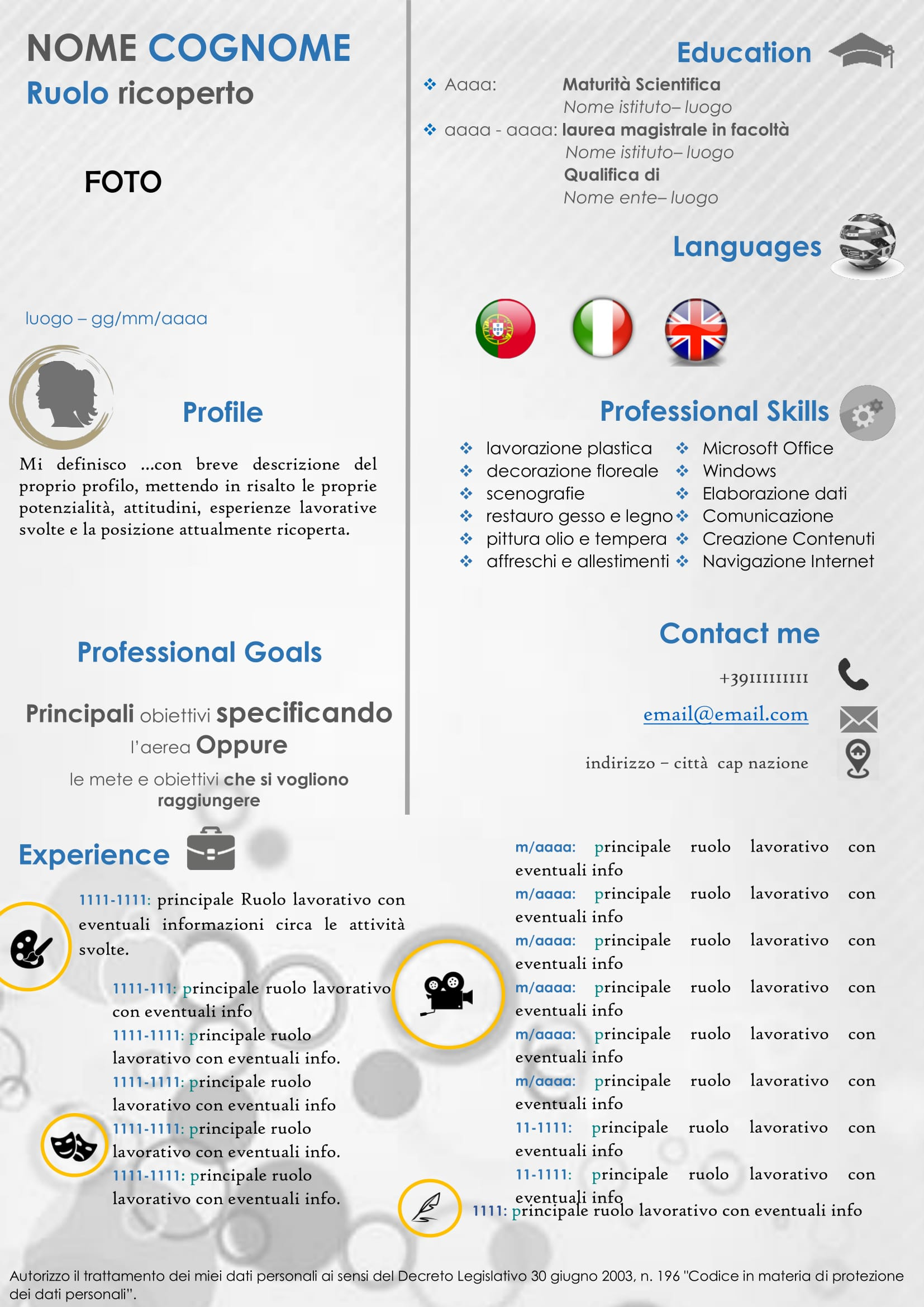 cv creativo grafico socialjobs